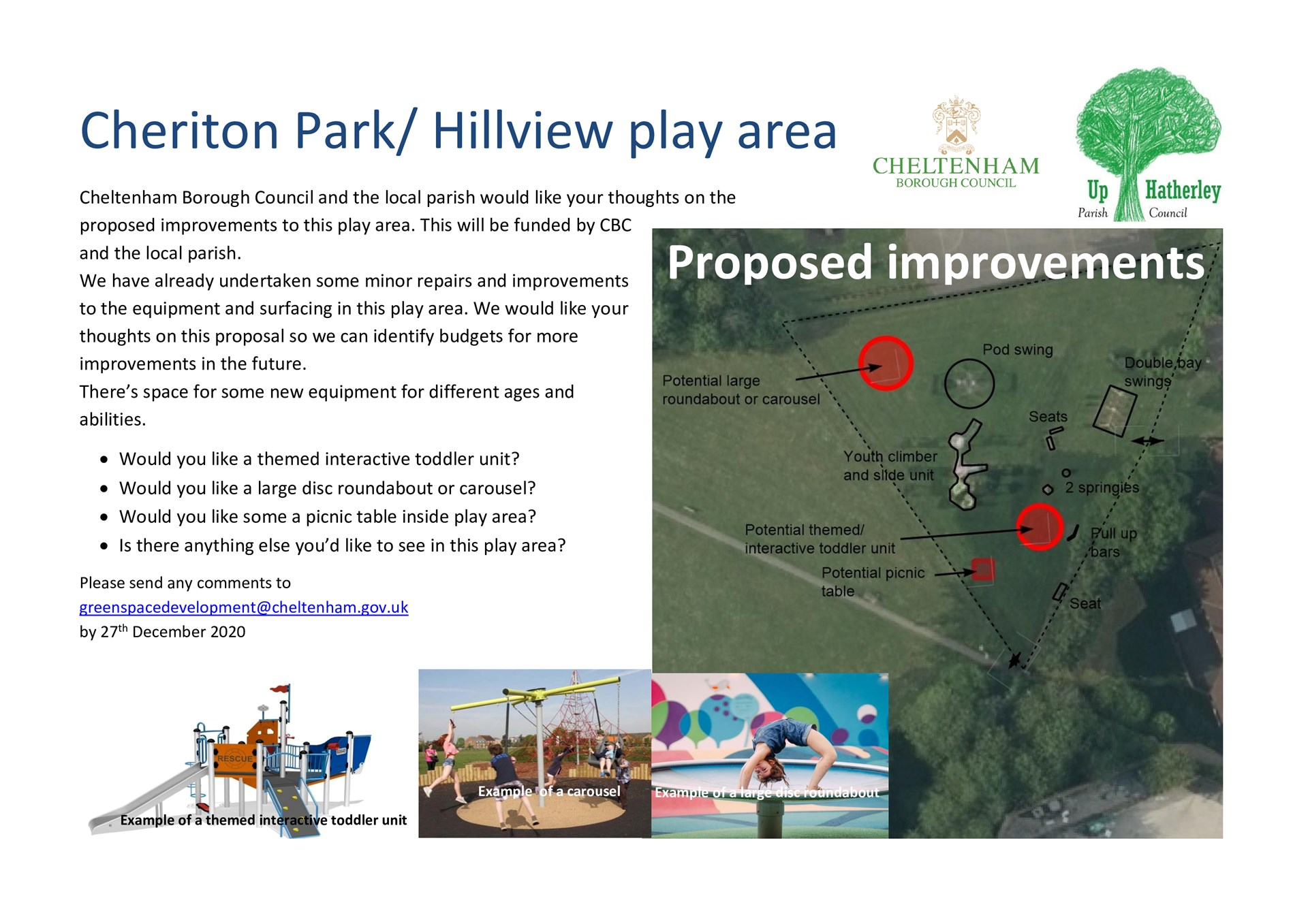Cheriton Park Improvements