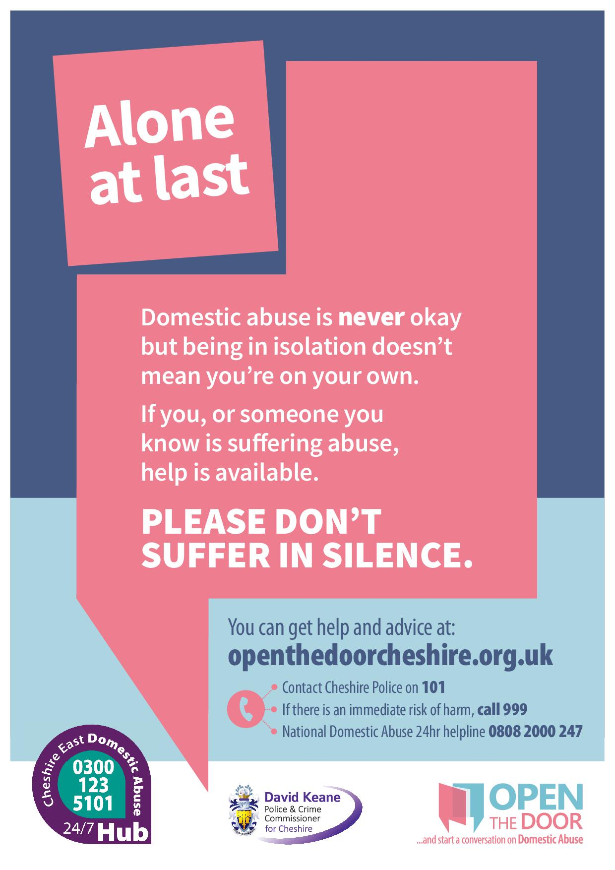 Chelford Parish Council Domestic Abuse Support