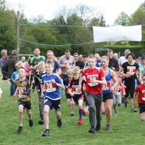 Start of the Fun Run at the Sports Weekend