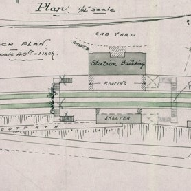 Plan of station as per 1896 plan