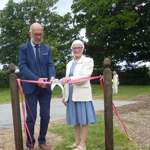 Petanque ribbon cutting