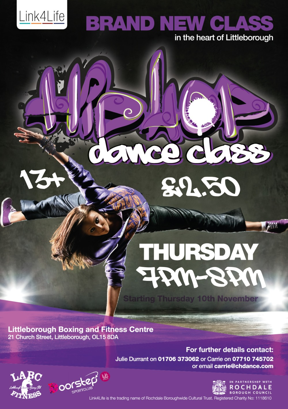 Littleborough Boxing & Fitness Club Hip Hop Dance Session
