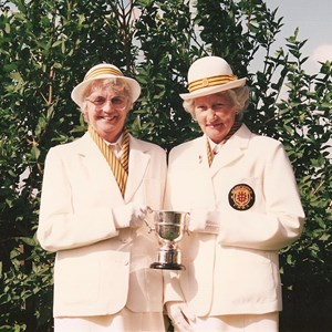 1989 GWBA Pairs Winners. Gladys Sircombe, Iris Jones.