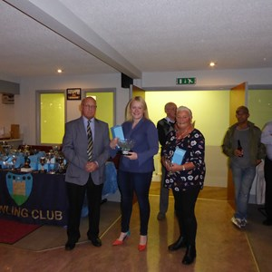 Ladies Pairs Runners Up Victoria Stevenson and Pat Iliffe