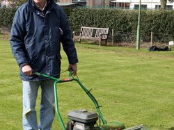 Keith on the mower