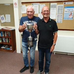 Men's Drawn Pairs Winners - Adrian Moore & Keith Trainer.