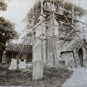 Restoration of Mickleham Church. May 1891