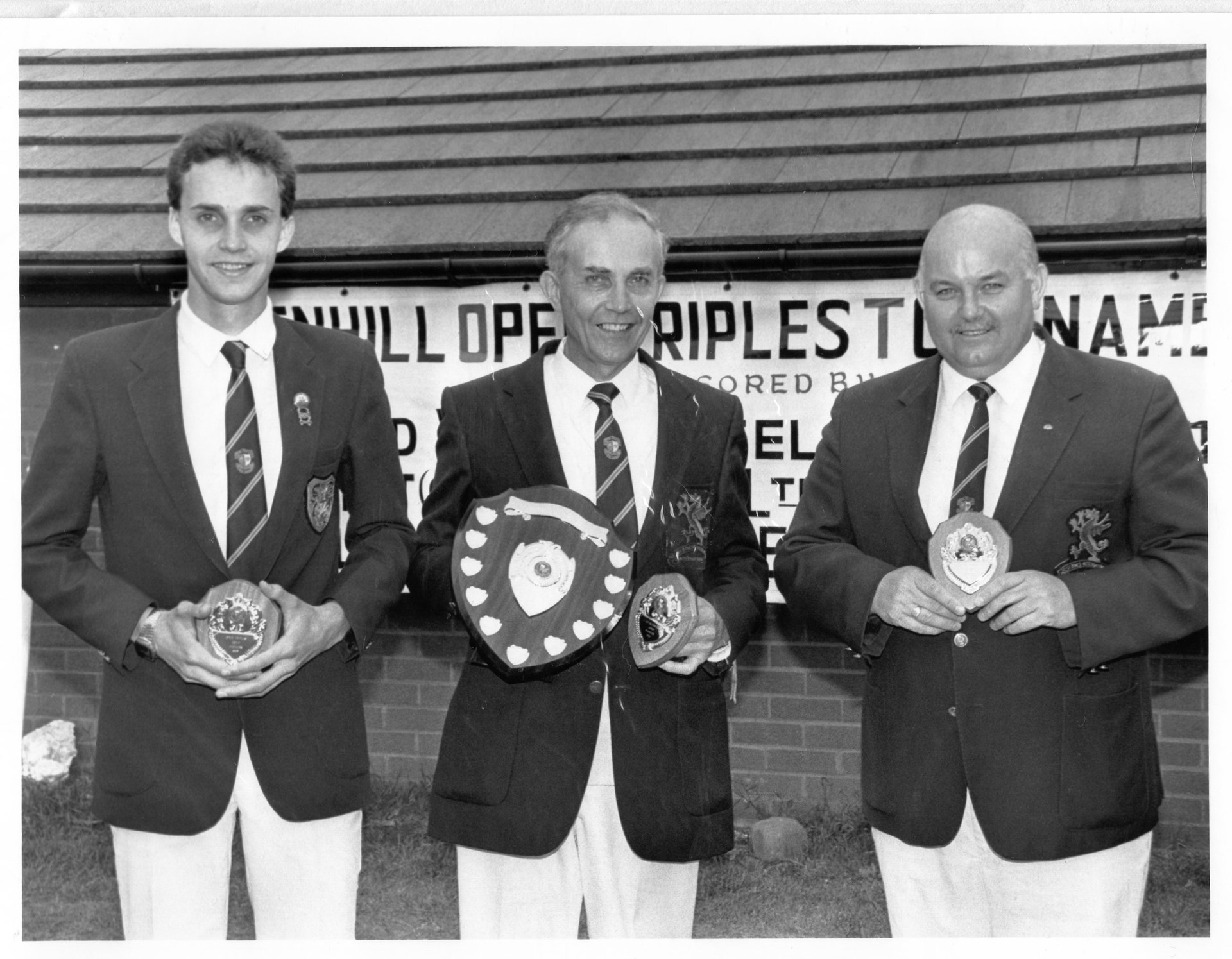 Winning the Penhill Triples with son Richard and Len Webley in 1988