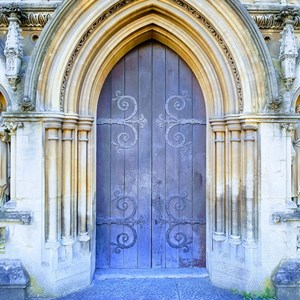 A church door