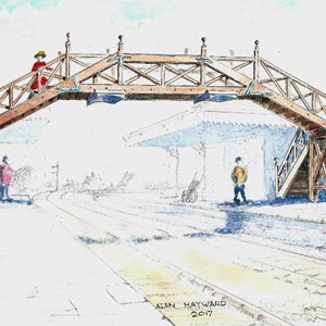 Friends of Alton Station Restoring 1892 Footbridge
