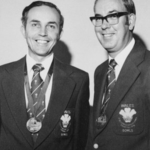 With club colleague J.R Evans following their bronze medals in Edmonton Canada