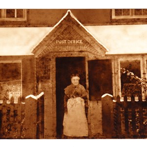 Mrs Hill postmistress circa 1890
