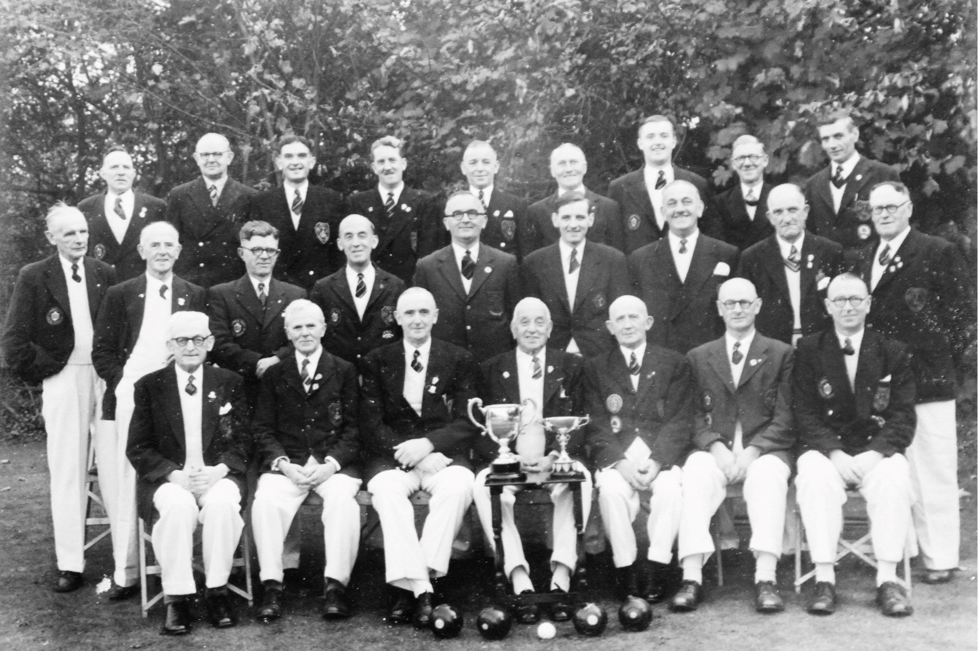Barry Athletic Bowls Club Welsh Private Greens Champions 1953