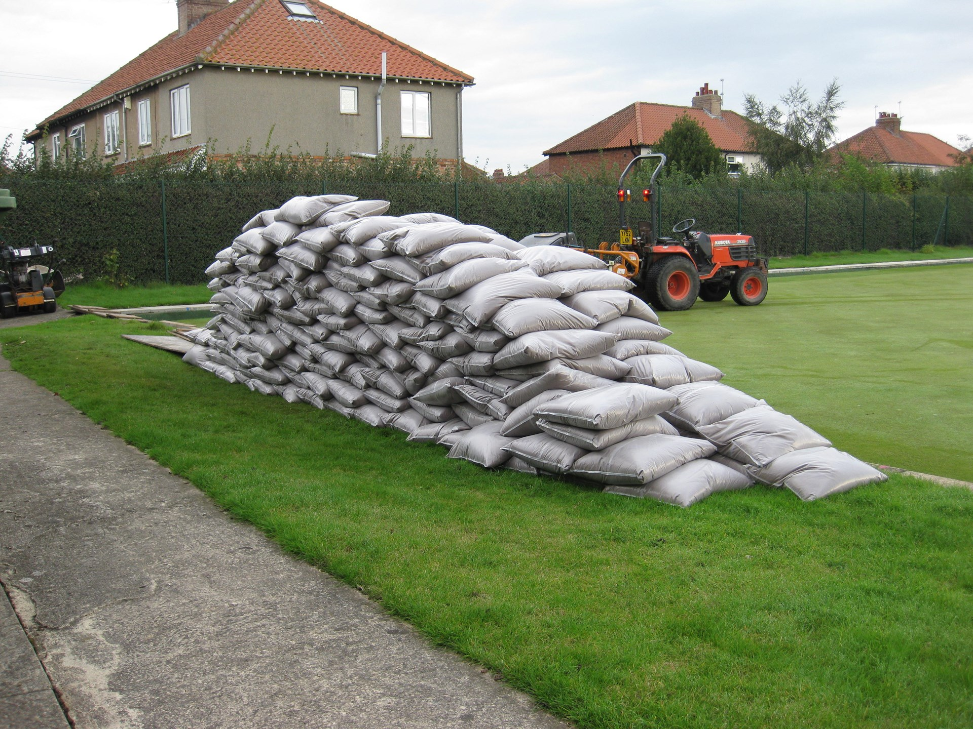 Six tonnes of top-dressing to be spread.