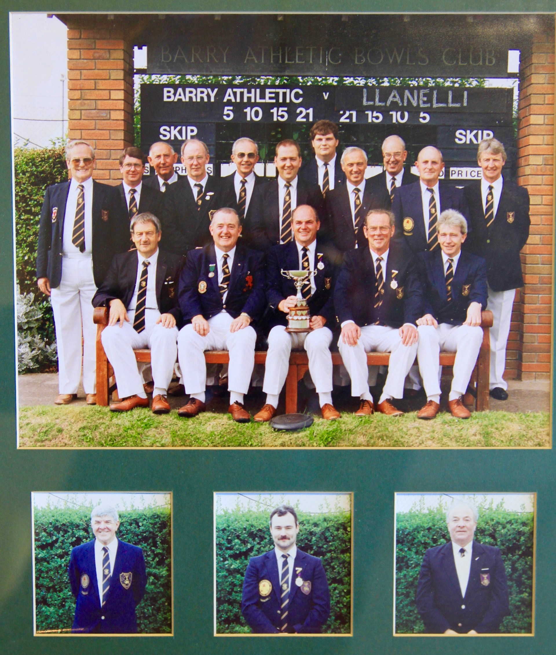 Barry Athletic Bowls Club Welsh Private Greens Winners 1991