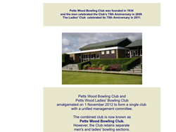 Petts Wood Bowling Club Club Archive