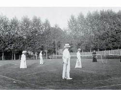 Early 1900's tennis at the club.