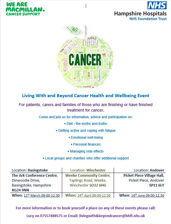 North Hampshire Prostate Cancer Support Group External Events