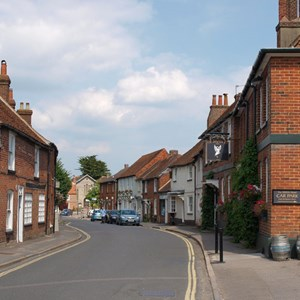 Kingsclere, looking down Swan Street
