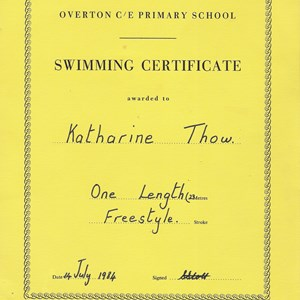 Swimming Certificates Styles through the years