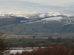 View from Abdon in the snow