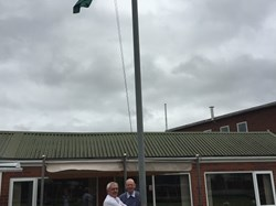 Flying the Worcestershire flag