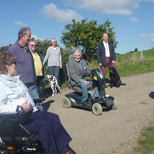 Swanpool Footpath Upgrade opening event, Little Wenlock Parish Council
