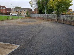 Tarmacked car park