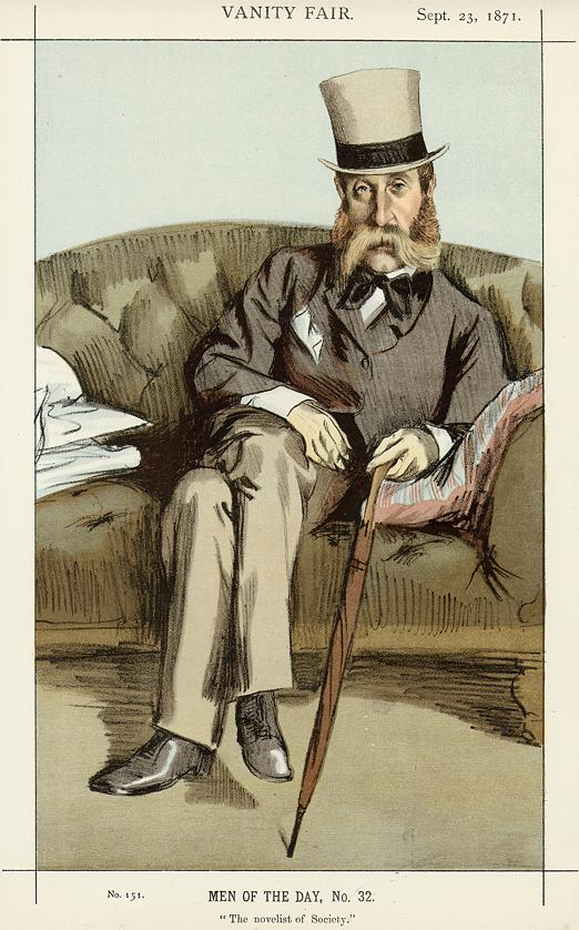 A Drawing of Major George Whyte Melville from 1871
