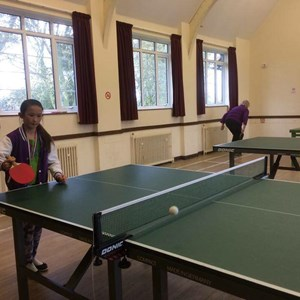 Table tennis at Andover Road Village Hall