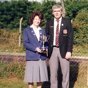 1993 County Mixed Pairs Winners. 1994 R/U. Janet Bishop, Eddie kavanagh.