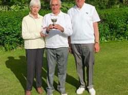 Rosemary Cup Winners 2019 - Nora Brown, Dave Chalke and Peter Hale