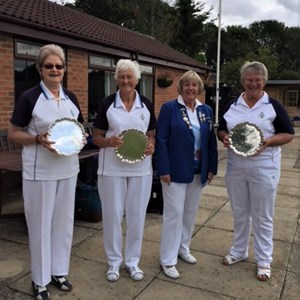 Benevolent Triples Winners D.Kirby, D.Padwick, J.Farnsworth