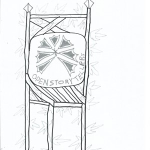 R.Meader's pictureof thr Open Story tellers Bardic Chair