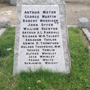 Cliffe Memorial Names 4