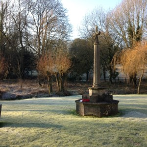 War Memorial in need of restoration, January 2016