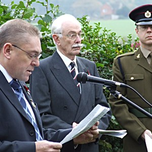 Martin Cook (left) who introduced the Oakley Act of Remembrance