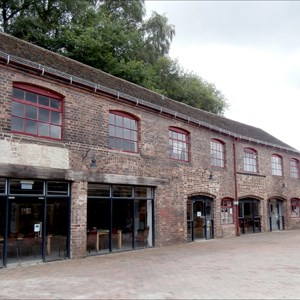conservation workshop immediately to south of tile press shop at jackfield tile museum