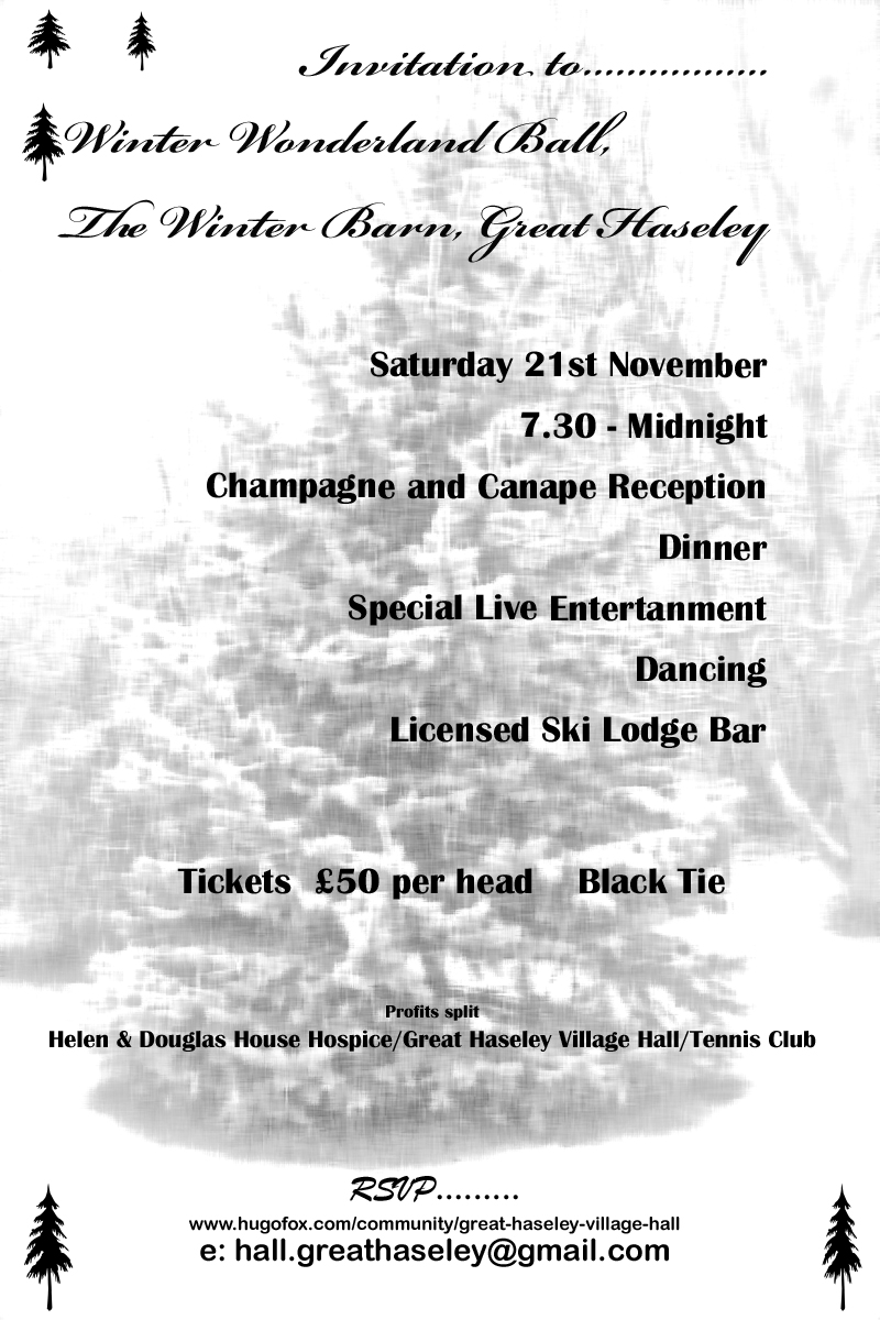 Winter Wonderland Ball 21st November