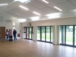Main Hall looking onto the playing fields