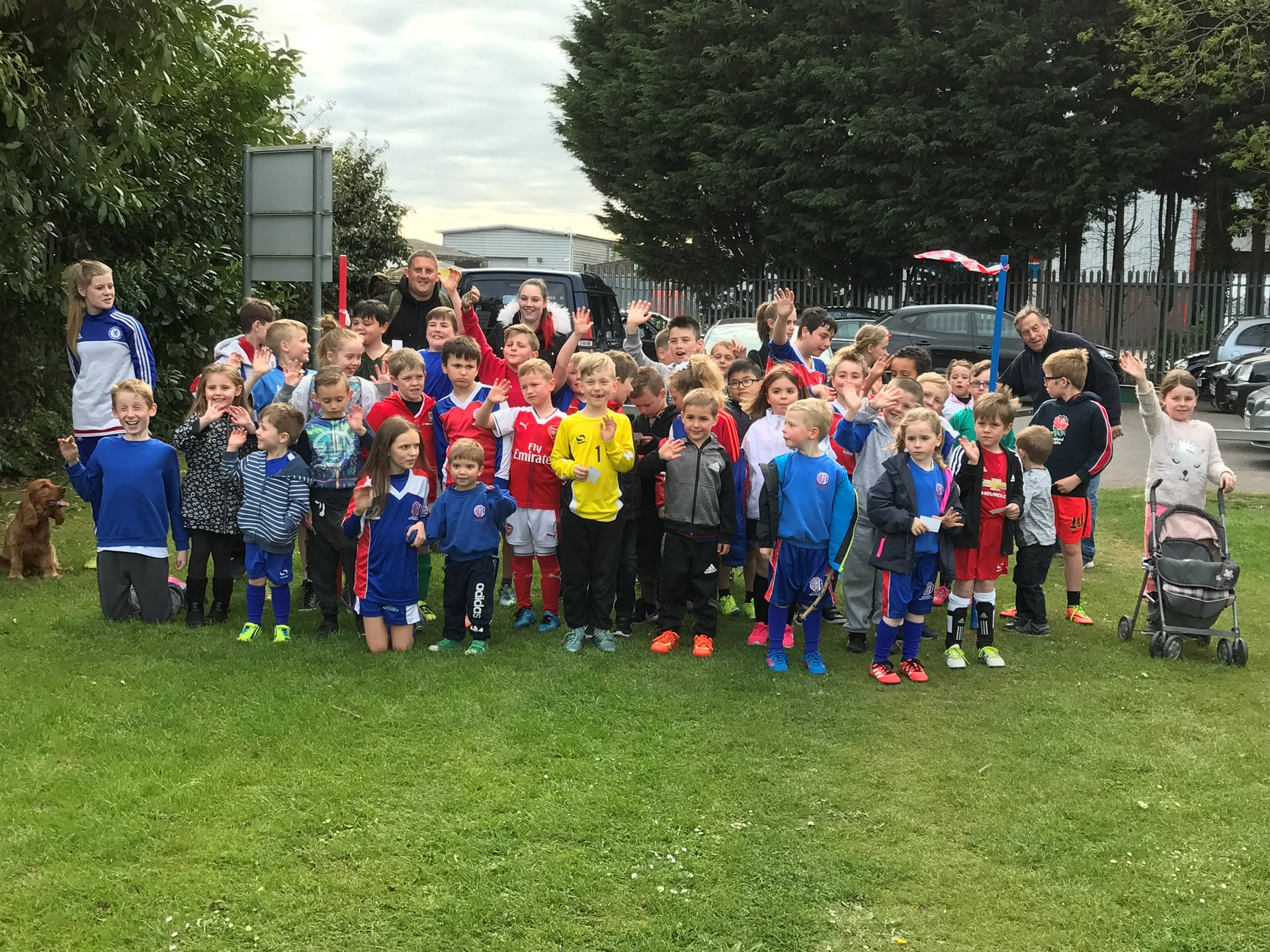 Aldershot Boys And Girls FC Sponsored walk