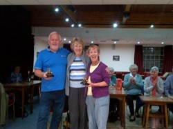Derek Yerrill (Men's Winner) with Doreen and Janet (Again!)