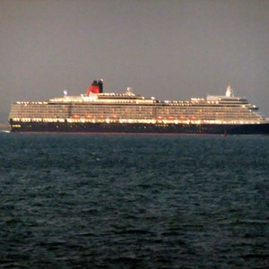 Queen Elizabeth maiden voyage at Seaview