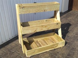 The RWB Shed Chairs & 3 Tier Planter