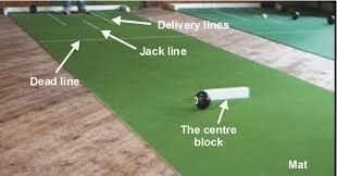 Layout of a Short Mat bowls rink