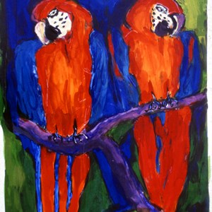 Macaws No: 3  Sold £150.00