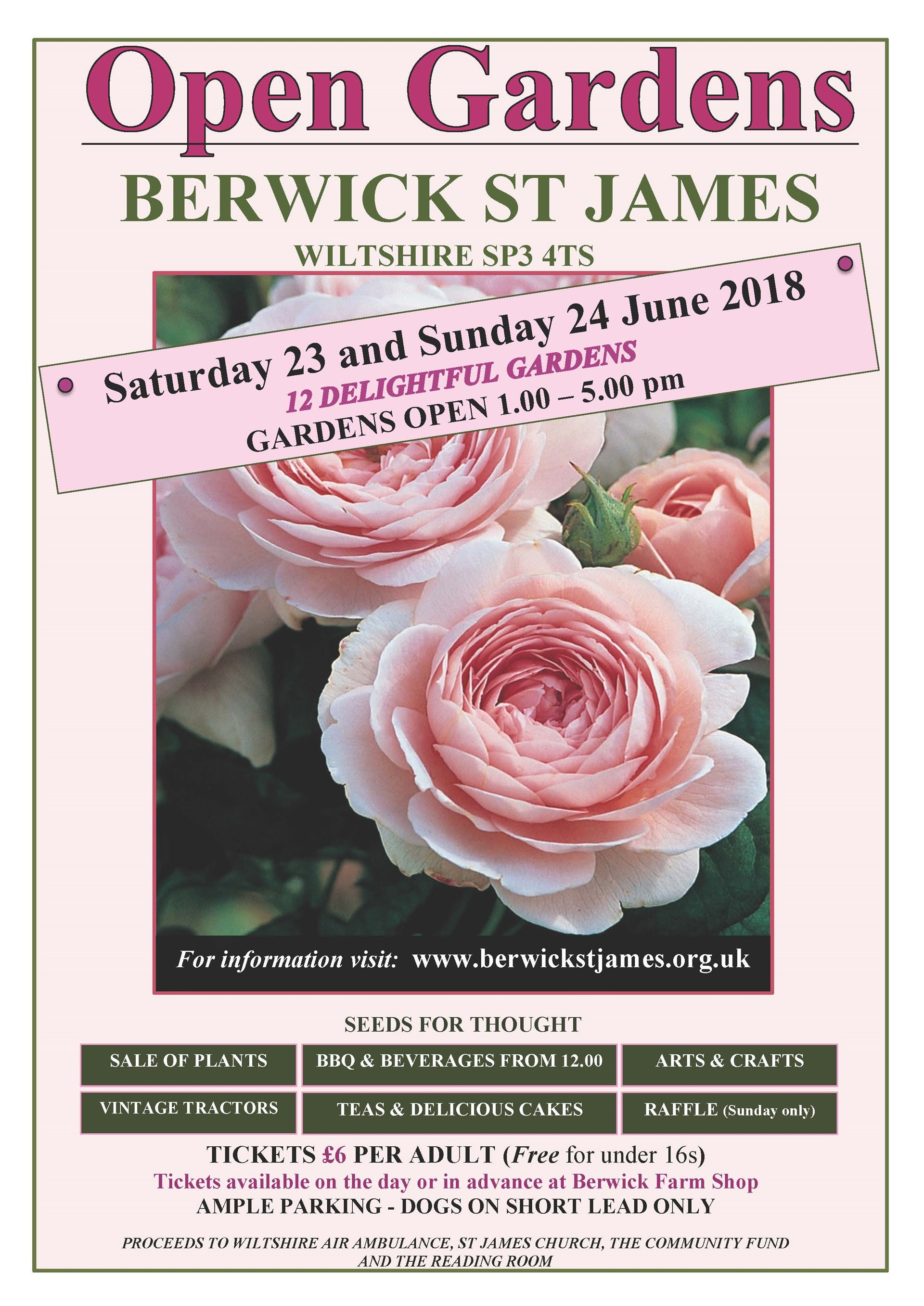 Berwick St James Parish OPEN GARDENS 2018