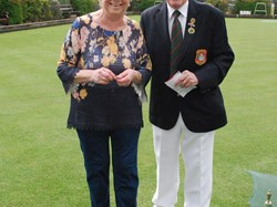 Ladies Captain Doreen Butt Receives her badge