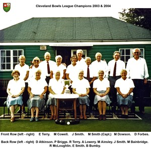 Cleveland League Winners 2003 - 2004