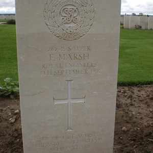 Grave of Fred Marsh - Cemetery France